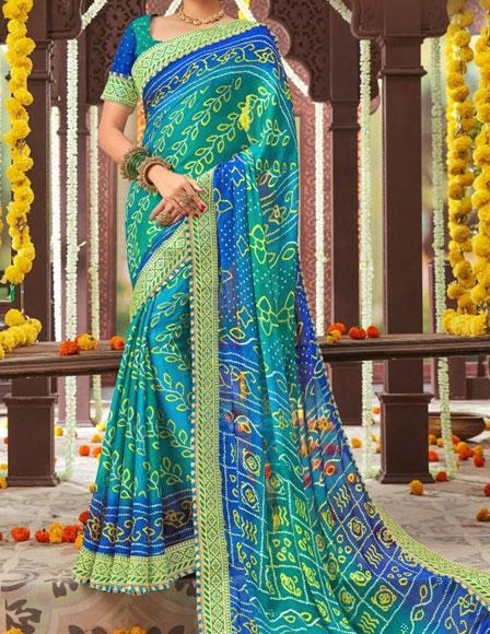 Jhankaar-Bandhani-Saree