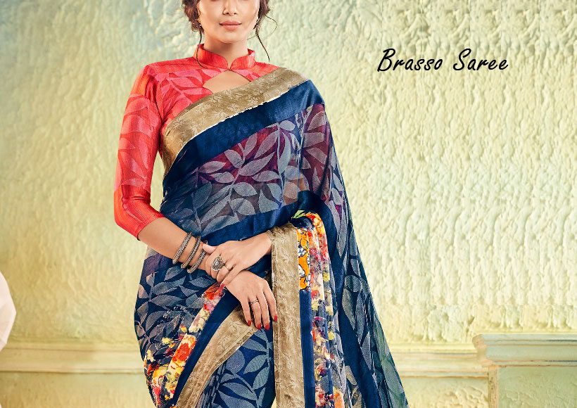 Why you should Buy a Pretty Brasso Saree, that is High End in Style