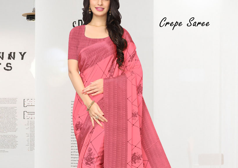 Why you should Buy a fascinating Crepe Saree to look great for Party & Formal Occasion