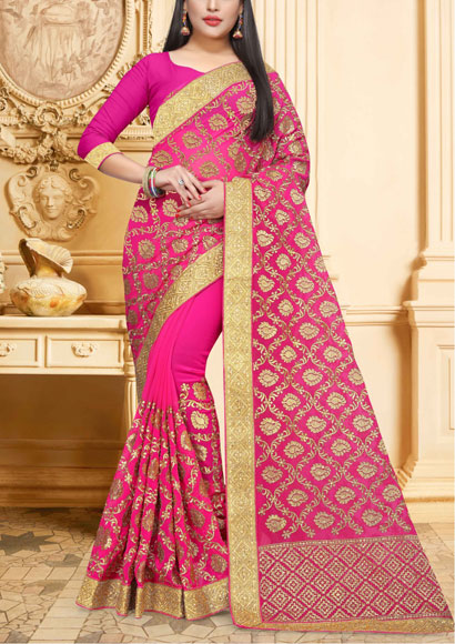 Georgette-Saree-Zari-Work