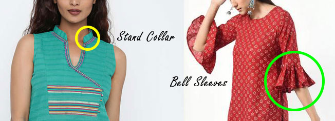 Stand-Collar-Bell-Sleeves