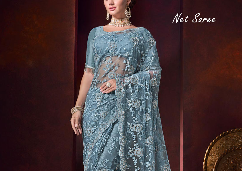 How to Get a Stunning Net Saree with Latest Party Wear Designs in Wholesale