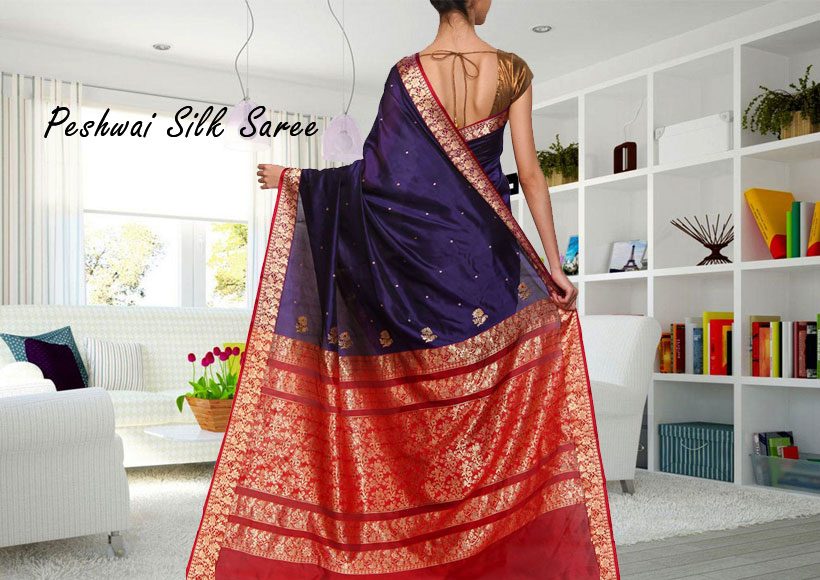The Best Ethnic Peshwai Silk Saree you can Buy, that is Inexpensive and made from Pure Silk