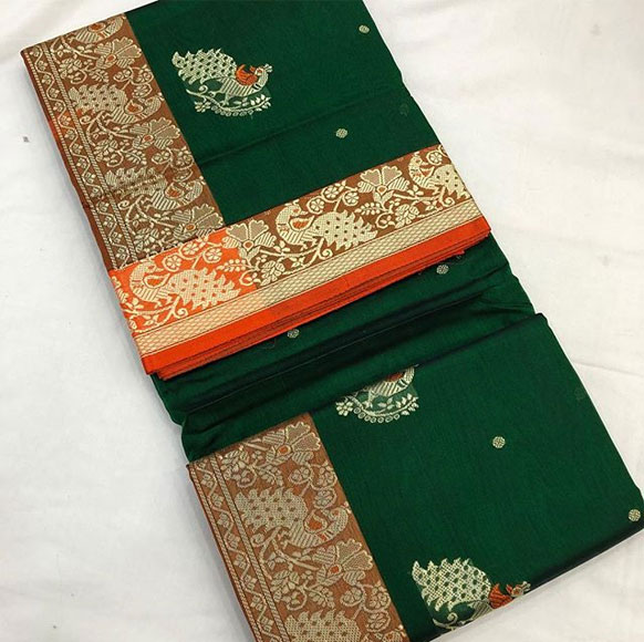 Peshwai-Silk-Saree-Resham-Work