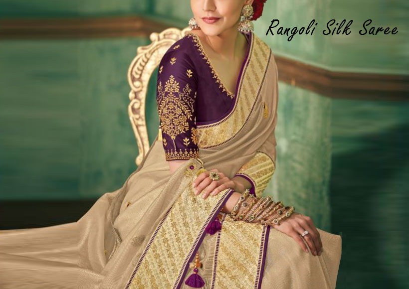 The Best Charming Rangoli Silk Saree Designs You should Buy that adds a charm to your look