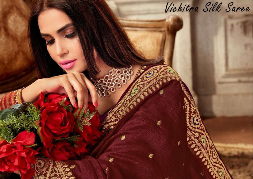 Vichitra-Silk-Saree