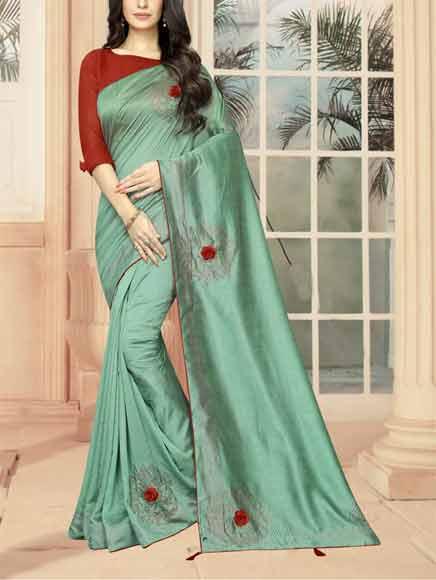 Vichitra-Silk-Saree-Image-3