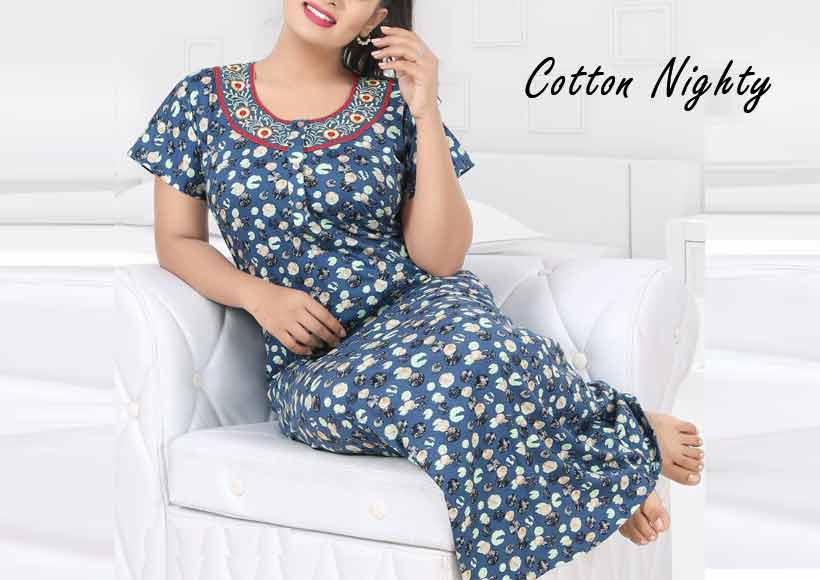 10 Types of Cotton Nighty for Women to Wear at Night