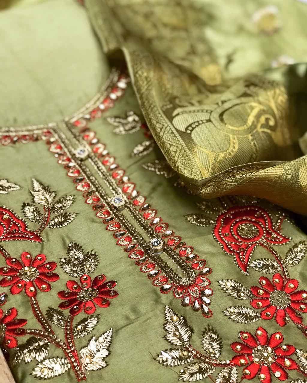 Mehendi-Dress-Material